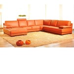 Divani Casa 2227 - Modern Leather Sectional Sofa