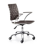 Criss Cross Office Chair Espresso