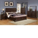 Bellwood Ridge Storage Bedroom Set in Cappuccino