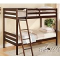 00510 Finish Twin/Twin Bunk Bed Espresso