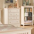 00750F Crowley Chest Of Drawers, Cream And Peach Finish