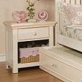 00750F Crowley Nightstand, Cream And Peach Finish