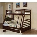 Jason Espresso Finish Twin/Full Bunk Bed Set