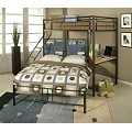 02030 Twin/Full Bunk Bed with Study Desk Black Finish