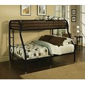 02053 Black Finish Twin/Full Bunk Bed