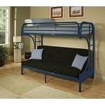 02091 Blue Finish Twin/Full Futon & Bunk Bed
