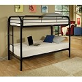 02188blk Black Finish Twin/Twin Bunk Bed