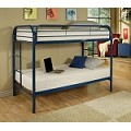 02188bl Blue Finish Twin/Twin Bunk Bed