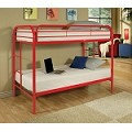 02188r Red Finish Twin/Twin Bunk Bed