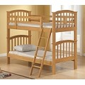 02308 San Marino Twin/Twin Bunk Bed, Natural