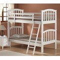 02321 San Marino Twin/Twin Bunk Bed, White