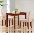04000 3 Piece Kids Dining Set With Oak Table And Microfiber Chair