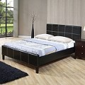 Black Finish Bycast Queen Bed