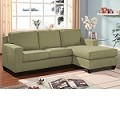 Pebble Finish Reversible Chaise Sectional