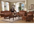 Birmingham 100% Leather Tri-Tone Sofa Set