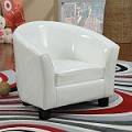 Contemporary Cady White Pu Leather Youth Chair