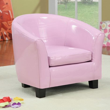 Contemporary Cady Pink Pu Leather Youth Chair