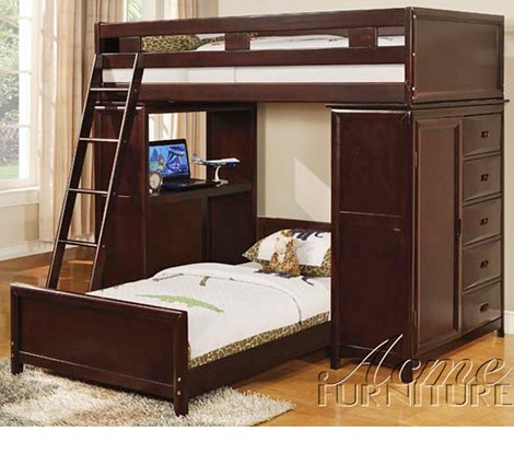 Nathan Espresso Finish Bunk Bed Set