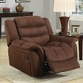 Caray Chocolate Easy Rider Rocker Recliner