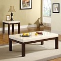 17415 Kyle Faux Marble Top 3PC Coffee/End Table Set