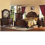 Remington Brown Finish Bedroom Set