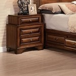 Konance Brown Cherry Finish Nightstand