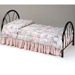 02054 Black Finish Twin Size Headboard & Footboard