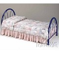 02054 Blue Finish Twin Size Headboard & Footboard