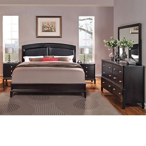 Abram Espresso Finish Bedroom Set