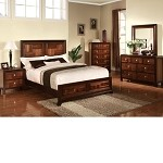 Cleveland Dark Cherry Finish Bedroom Set