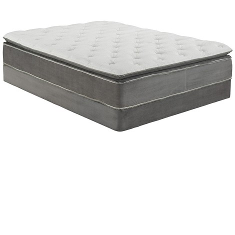 29044 Cicely Gray Suede Queen Size Pillow Top Mattress