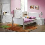 Nebo White Finish Bedroom Set