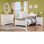 Classique White Finish Bedroom Set
