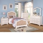 Ira White Finish Bedroom Set