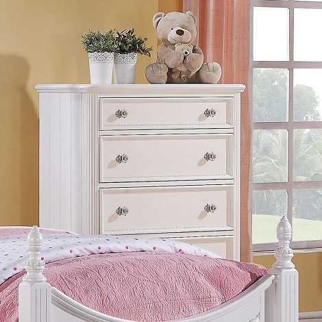 Athena White Finish Chest Of Drawers