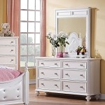 Athena White Finish Dresser & Mirror