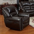 50287 Ralph Espresso Bonded Leather Recliner