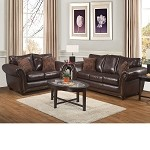 50425 Emerson Vintage Bonded Leather Sofa Set