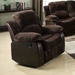 50472 Masaccio Brown & PU Match Recliner