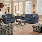 50585 Jayda Mailibu Blue Sofa Set