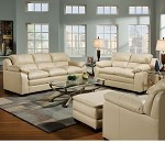 50590 Jeremy Cardinal Natural Bonded Leather Match Sofa Set