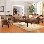50675 Archaise Amber Chenille Fabric Sofa Set