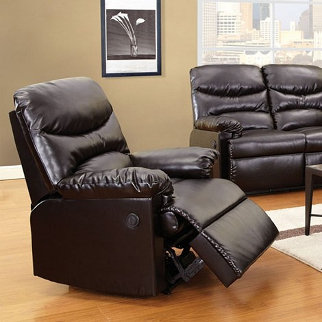50940 Arcadia Power Motion Recliner Brown Bonded Leather
