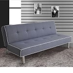 57020 Melva Gray Fabric Adjustable Sofa