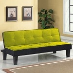 57039 Hamar Green Microfiber Adjustable Sofa