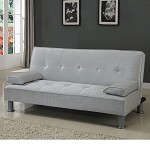 57068 Korb Silver PU Adjustable Sofa