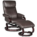 Monti Espresso PU 2pc PACK Chair & Ottoman