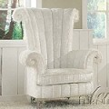 59124 Parr White Finish Accent Chair