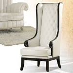 59128 Pedro Black & White Finish Accent Chair
