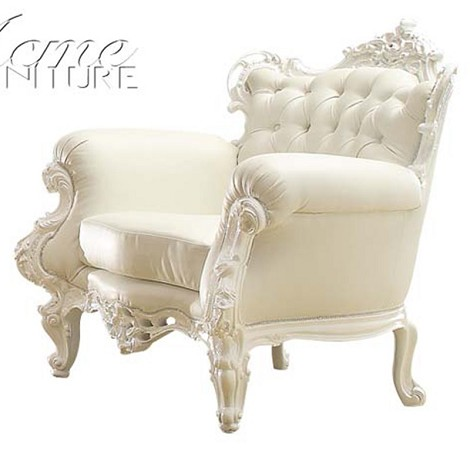 59137 Nels White Accent Chair